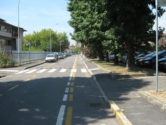 La pista ciclabile di Via Salvemini