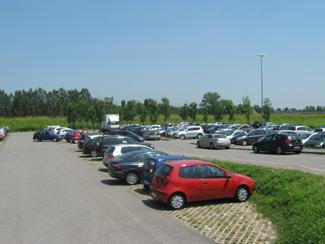 Il parcheggio di via Massena - Ospedale