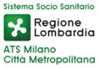 logo della regione lombardia con la scritta ats milano città metropolitana