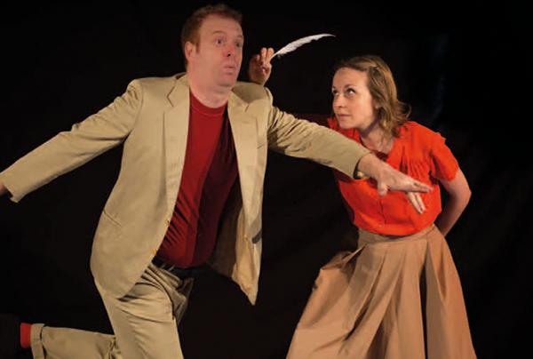 immagine dei due attori in scena
