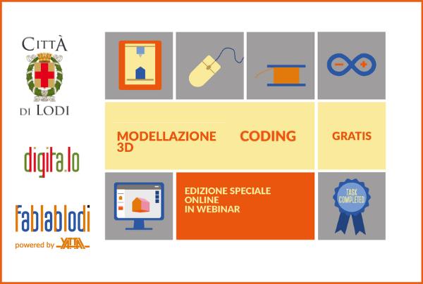locandina webinar con icone identificative e loghi