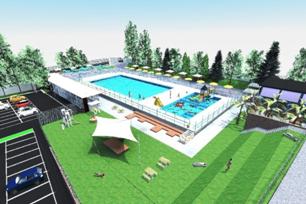 render del progetto della nuova piscina ferrabini