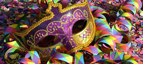 una maschera di carnevale