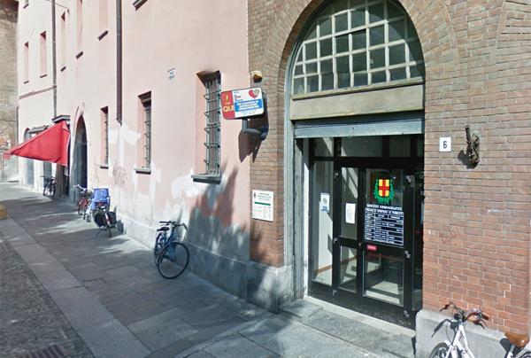 l'ingresso dell'ufficio anagrafe del comune