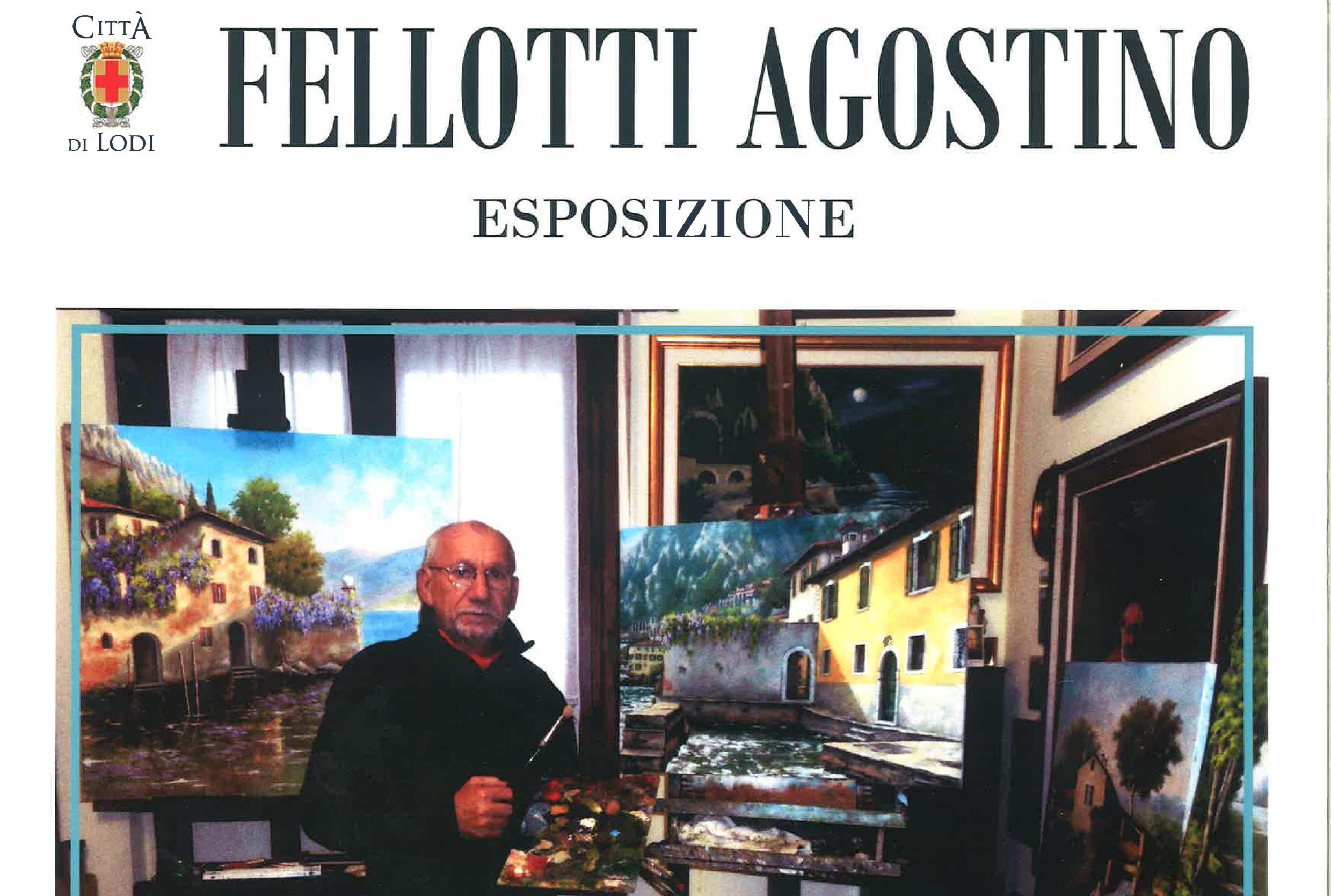 immagine dalla locandina con Fellotti nel suo atelier