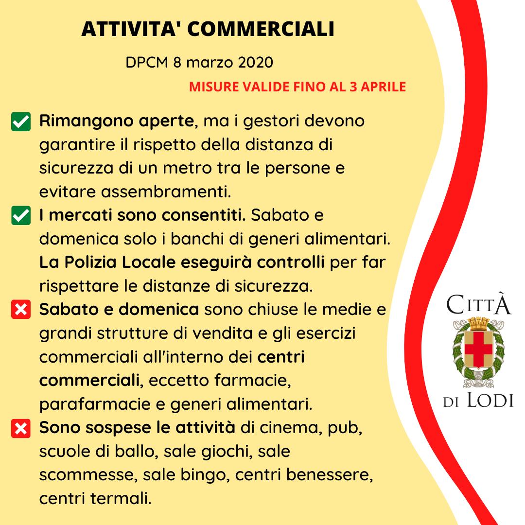 Coronavirus Sintesi Dei Provvedimenti Ministeriali E Locali Comune Di Lodi