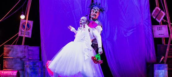 immagine dello spettacolo con Ale e Franz in scena