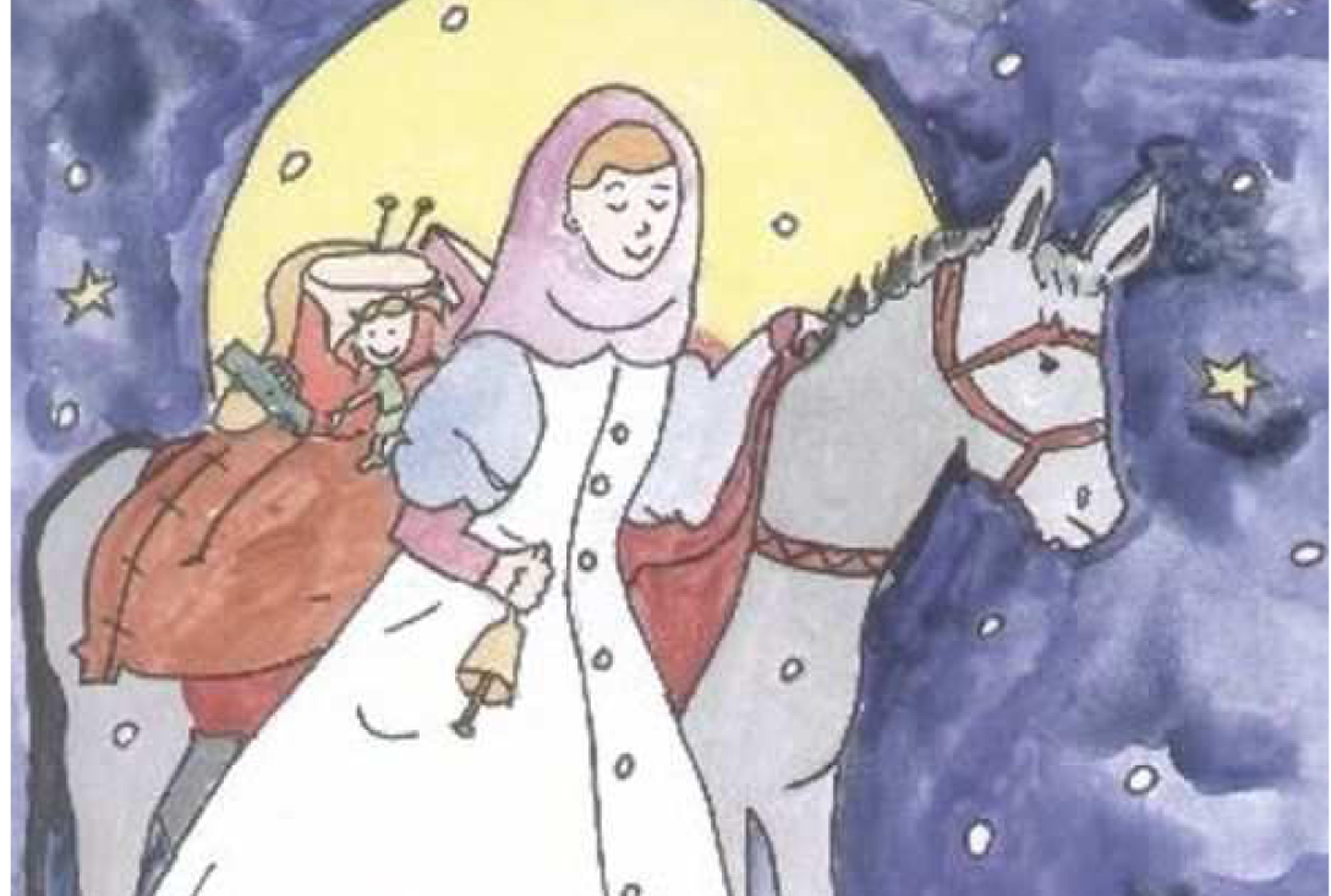 immagine di Santa Lucia con l'asinello