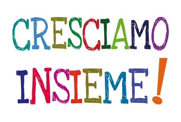 immagine multicolore del logo di Cresciamo Insieme