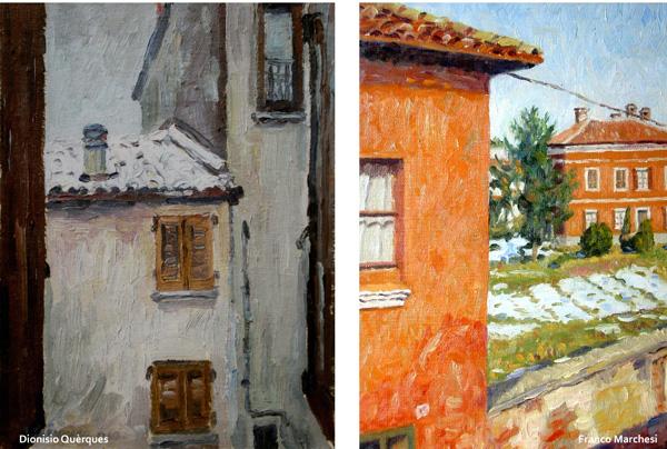 opere degli artisti in mostra