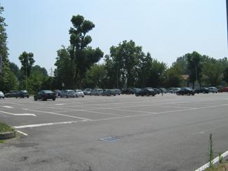 Il parcheggio del Piazzale degli Sport