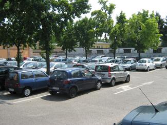 Il parcheggio di via Villani