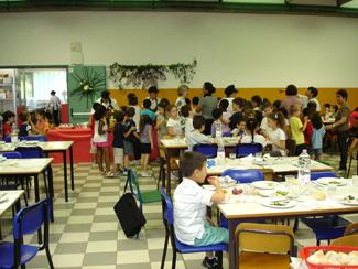 la mensa coi bambini