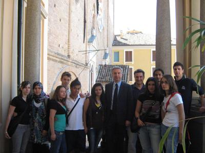 Il Sindaco con gli studenti del CFP