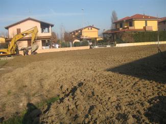 foto della stesura del terreno