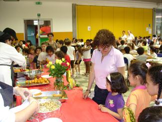 il buffet coi bambini