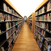un corridoio della biblioteca laudense