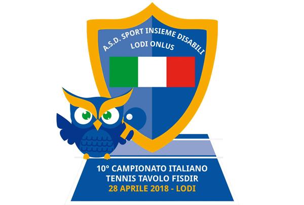 logo dell'associazione sport insieme disabili: uno scudo col tricolore e un gufo sulla sinistra