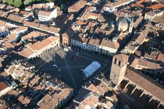 La piazza di Lodi dall'alto