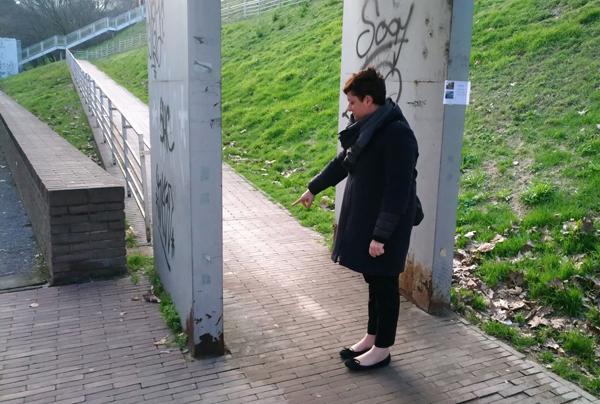 Sopralluogo del Sindaco alla passerella tra le vie Secondo Cremonesi e Paolo Gorini