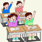 disegno di alunni in classe
