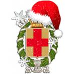 la stemma del Comune in versione natalizia