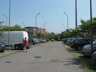 Il parcheggio di via Griffini