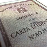 una carta d'identità