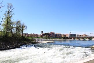 Foto varie del fiume adda