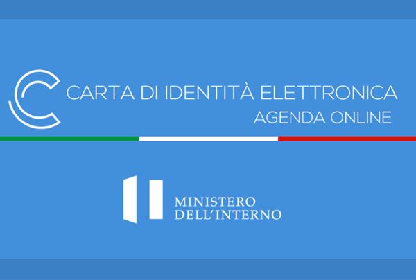 la scritta carta di identità elettronica - agenda online - ministero dell'interno