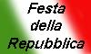 scritta festa della repubblica sul tricolore