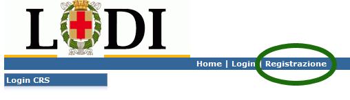 pagina di accesso al sito