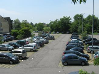 Il parcheggio di via D'Azeglio