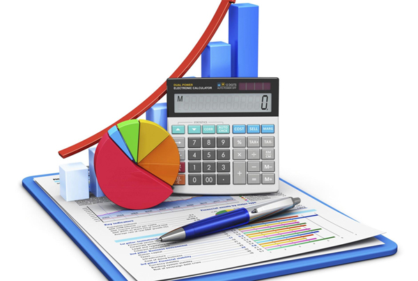 un grafico e una calcolatrice