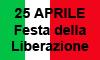 la scritta festa della liberazione sul tricolore