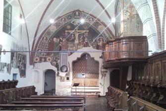 Il coro affrescato dell'ex chiesa Santa Chiara Nuova