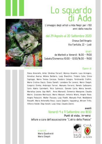 Locandina dell'iniziativa con titolo, date e orari, location, nomi degli artisti