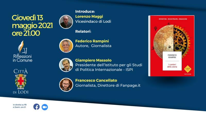 locandina dell'iniziativa con la copertina del libro, titolo, data, orario, programma della serata