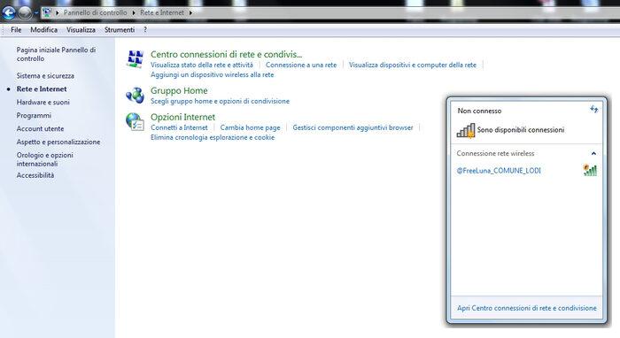 screenshot della registrazione